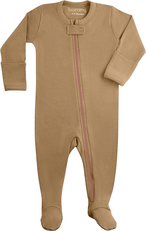 bonamy Baby Boys Max 68% OFF Girls Organic Cotton Sleeper Zip New item Front Pajamas