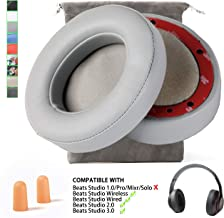 Replacement Beats Studio 2 Beats Studio 3 Wireless Ear Cushions Pads Muffs for Over Ear Headphones Wireless B0501 Wired B0500(Not Fit Beats Solo !!!) - Gray