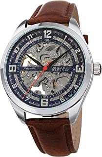 august Steiner Men's Blue Dial Leather automatic Watch - aS8264SSBR