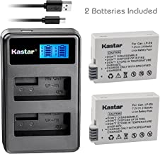 Kastar Battery (X2) & LCD Dual Slim Charger for Canon LP-E8, LC-E8E and Canon EOS 550D, EOS 600D, EOS 700D, EOS Rebel T2i, EOS Rebel T3i, EOS Rebel T4i, EOS Rebel T5i Cameras, Grip BG-E8