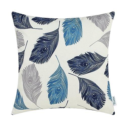 Blue And Grey Throw Pillows Amazon Com