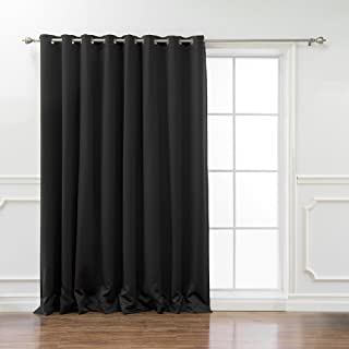 Best Home Fashion Wide Width Thermal Insulated Blackout Curtain - Antique Bronze Grommet Top - Black - 100