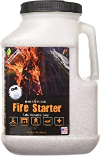 InstaFire 1 Gallon Fire Starter, AWARDED 2017 FIRE STARTER OF THE YEAR - Eco-Friendly, No Harmful Chemicals, Burns up to 1000º for over 10 min. in virtually any condition, lights up to 125 total fires