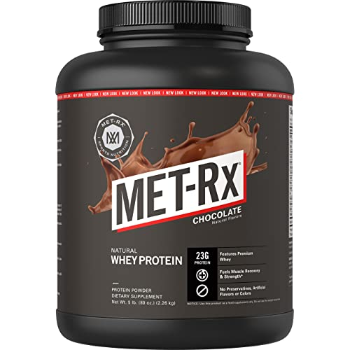 MET-Rx Natural Whey Protein Powder, Great for Meal Replacement Shakes, Low Carb