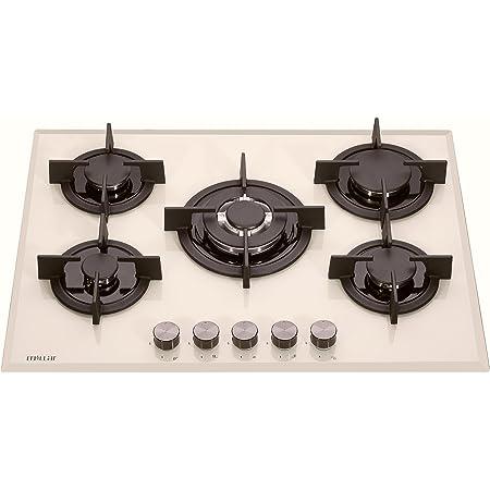 Millar Gh7051pm 70cm 5 Fornelli In Vetro Piano Cottura A Gas Beige Crema Amazon It Grandi Elettrodomestici