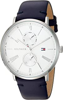 Tommy Hilfiger 1782072 Womens Quartz Watch, Analog Display and Leather Strap, Silver