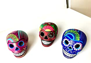 Red Garnet Calavera Halloween Skull Design #3 Women/'s Flip-Flops Day Of The Dead  Dia De Los Muertos