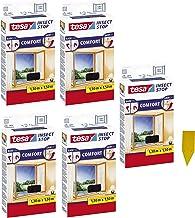 tesa Insect Stop Comfort Vliegengaas voor ramen / insectenbescherming met zelfklevend klittenband / antraciet + 1 gratis g...