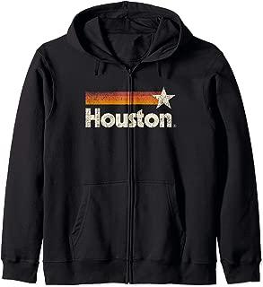 Vintage Houston Texas T-Shirt Houston Strong Stripes Zip Hoodie