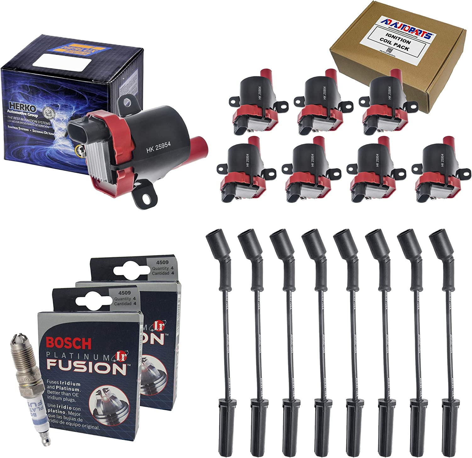 Set Of 8 Cheap mail order specialty store Herko B045HE High Coils 45 Super intense SALE Ignition + OEM Performance