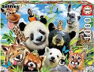 Educa Borrás 18117 Educa Borras Llama Drama Selfie 1000 Piece Jigsaw Puzzle, Assorted