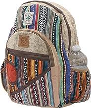 KayJayStyles Natural Handmade Large Multi Pocket Hemp Nepal Backpack (BKPK-4)