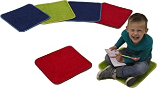 Learning Carpets Solid Color Square Carpet, Three Colors