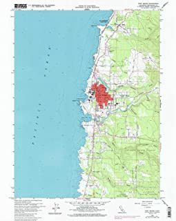 YellowMaps Fort Bragg CA topo map, 1:24000 Scale, 7.5 X 7.5 Minute, Historical, 1960, Updated 1985, 26.8 x 21.5 in