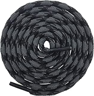 2 Pair Round Wave Shape Non Slip Heavy Duty and Durable Outdoor Climbing Shoelaces Hiking..
