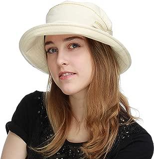 BLACK HORN Light Weight Packable Women's Wide Brim Sun Bucket Hat