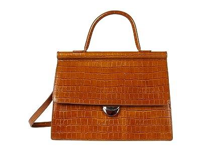 Loeffler Randall Freya Flap Satchel (Tobacco) Handbags