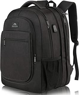 Travel Backpack for Men, Expandable Laptop Backpack with USB Charging Port, Large Anti Theft Business Computer Bag Water R...