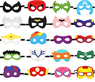 Cartoon Felt Masks Cosplay Character Soft Mask Party Favors Supplies for Kids Boys or Girls 20 Pack