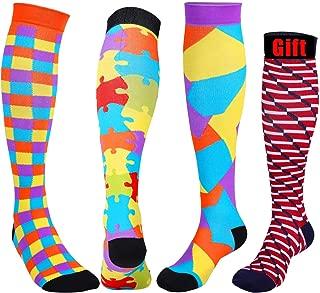 Women Compression Socks Knee High 20-30 mmHg Run, Travel, Athletic, Flight, Nurses, Pregnancy, S/M, L/XL, XXL, 3 Pack