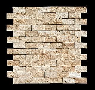 Light 1 X 2 Split Face Travertine Mosaic Tile
