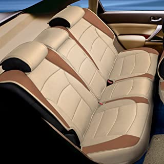 FH Group PU205102 Ultra Comfort Leatherette Front Seat Cushions (Beige-Tan)