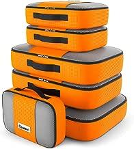 Savisto Packing Cubes - Small, Medium, Large, XL (6-Piece Set) - Orange