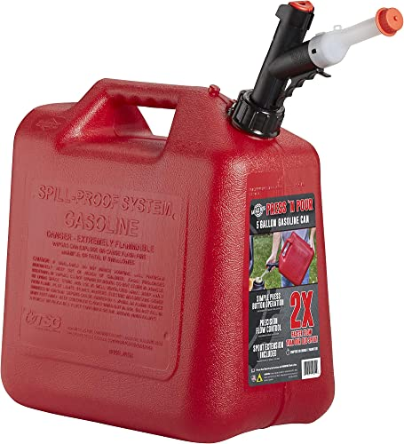 discount GARAGE BOSS GB351 Briggs and Stratton Press 'N Pour popular Gas 2021 Can, 5 gallon, Red online sale