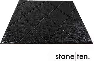 Faux Diamond Wall Panels - Peel and Stick Foam Diamond Paneling - 3D Wall Panels for Fake Diamond Wall - 3D Diamond Wallpaper - Self Adhesive Diamond Look Wall Panels - (Black Mamba 20 Pack)