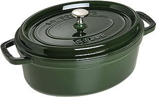 Staub 4.25 Quart Oval Cocotte, Basil Green