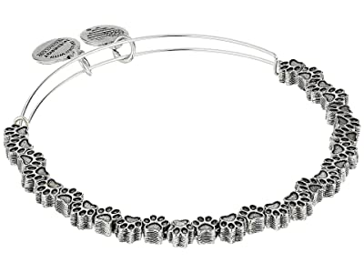 Alex and Ani Paw Print Beaded Bangle (Rafaelian Silver) Bracelet