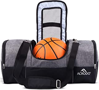 Acrodo Basketball Backpack - Girls & Boys,  Men & Women's Soccer Bag With Ball Holder,  Cleat Pouch,  Food Storage - All Sports Bag Gym Tote for Soccer,  Volleyball,  Football…
