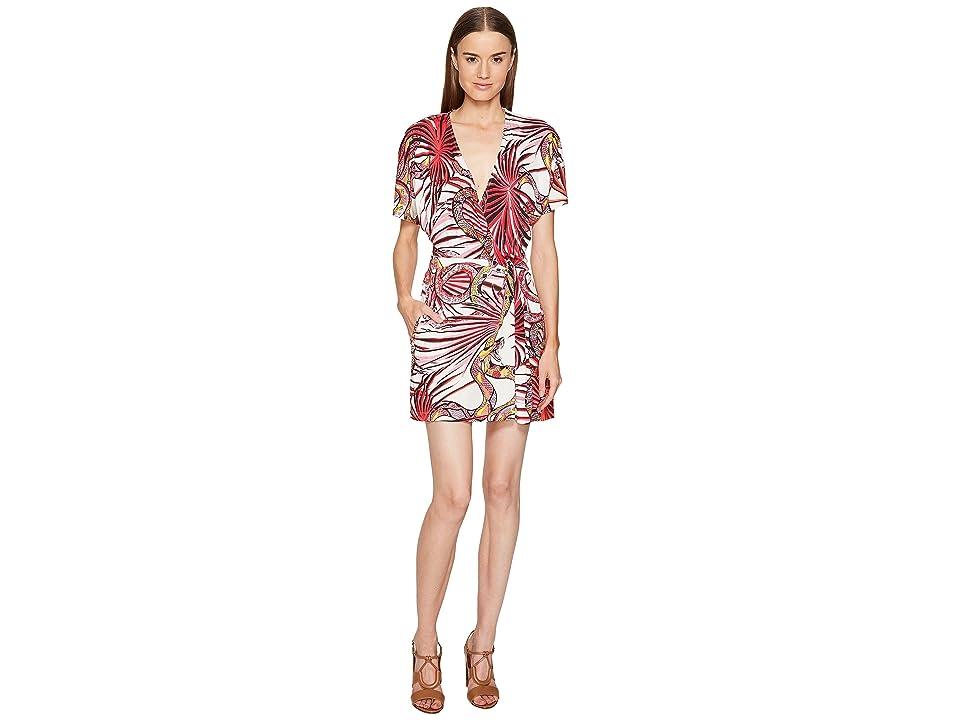 Just Cavalli Temptation Printed Wrap Dress (Apricot Variant) Women