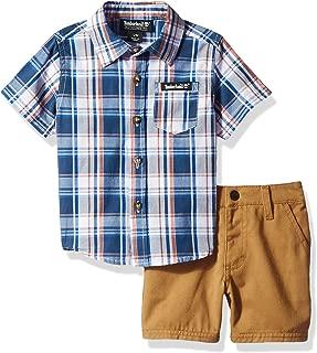Timberland Baby Boys 2 Pieces Shirt Shorts Set