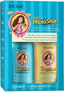 Kit Duo Shampoo e Condicionador Efeito Photoshop com Queratina Vegetal, Inoar, 250ml