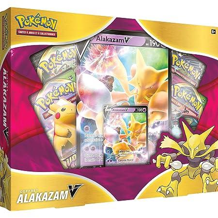 Pokémon : Coffret Alakazam - 4 boosters - Jeu de cartes à collectionner