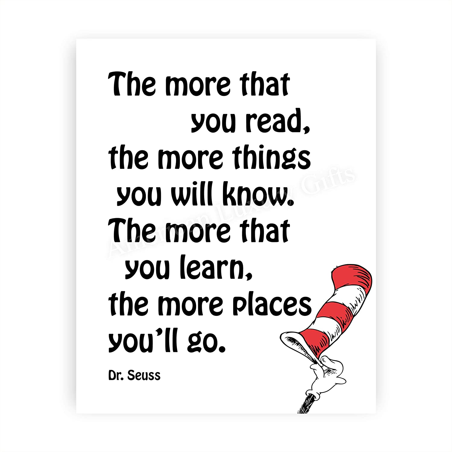 """New York Mall Dr. Seuss Quotes Wall Art-""""The Sale SALE% OFF Things Yo More You Read-More"""