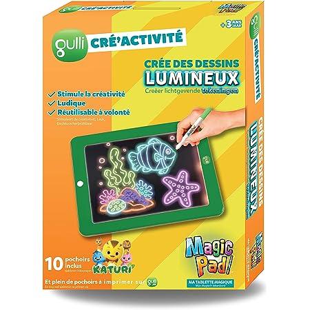 MAGIC PAD GULLI La tablette magique pour dessiner sur 30 pochoirs dont 10 KATURI - Vu à la Télé