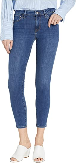 Adriana Mid-Rise Super Skinny Ankle in Mid Indigo Supersoft