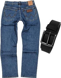 Wrangler Texas Stretch Men's Regular Fit Jeans with Belt
