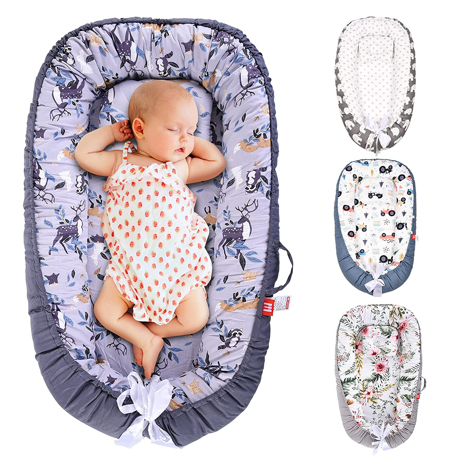 SMTTW Baby Nest Lounger Co Max 66% OFF for Bassinet low-pricing Sleeping Newb