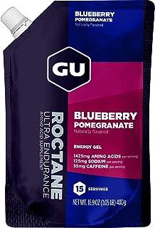 GU Energy Roctane Ultra Endurance Energy Gel, 15-Serving Pouch, Blueberry Pomegranate
