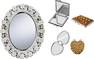 Majik Set Of 3 New Design Decorative Frame Big Mirror With 2 Small Travel Use Mirror 45 Gram Pack Of 1