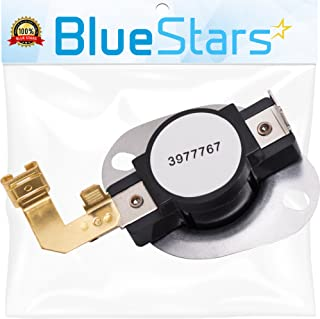 3977767 Dryer Thermostat Replacement part by Blue Stars - Exact Fit for Whirlpool & Kenmore Dryers - Replaces 3399693 WP3977767 WP3977767VP