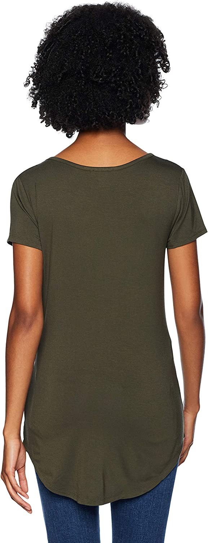 Marke Daily Ritual Damen novelty-t-shirts Jersey Short-sleeve Scoop-neck Longline T-shirt