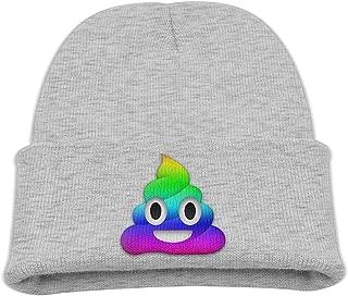 Teenager Emoji Poop Rainbow Flag 85% Cotton Ski Hat Pink