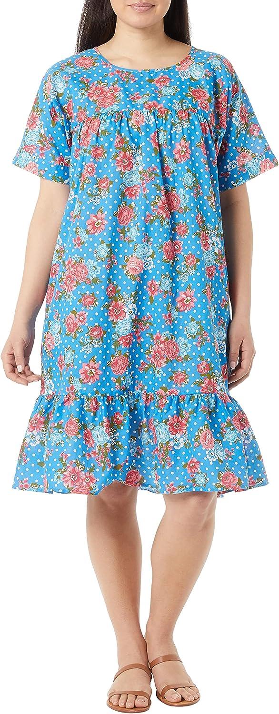 AmeriMark Women's Casual Cotton Dresses for Women - Slipover Dress with Pockets
