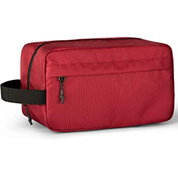 Vorspack Toiletry Bag Hanging Dopp Kit for Men Water Resistant Shaving Bag with Large Capacity for Travel - Maroon