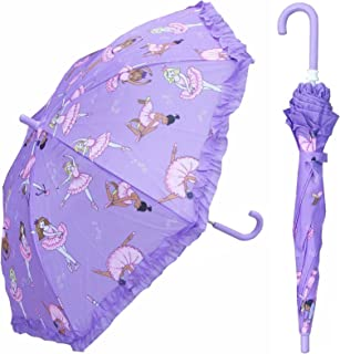 Purple Ballet Umbrella for girls - Manual Open and Close 32 inch - by Adjore