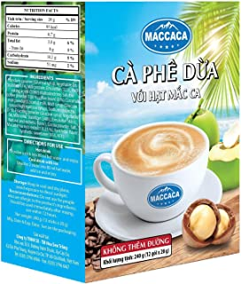 Maccaca Coconut Coffee No Sugar, 240 g